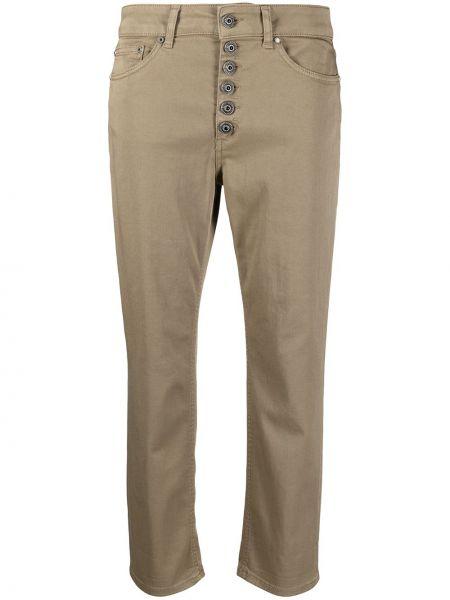 Хлопковые прямые укороченные джинсы на пуговицах Dondup