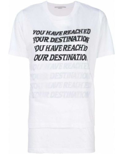футболка 'You Have Reached Your Destination' Stella Mccartney