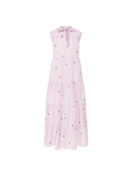 Хлопковое платье - фиолетовое Paul&joe
