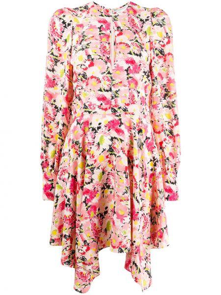Платье макси длинное - розовое Stella Mccartney
