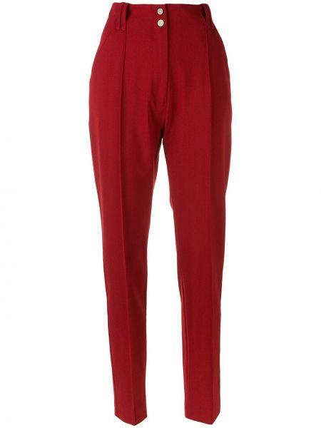 Spodnie z wysokim stanem bawełniane z paskiem Plein Sud