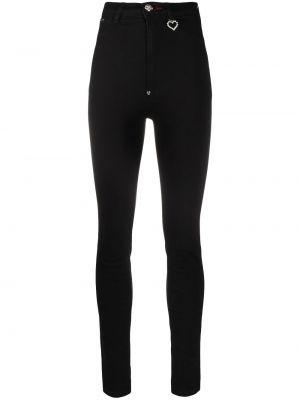 Облегающие зауженные джинсы - черные Philipp Plein