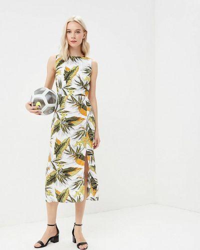 Зеленое платье Warehouse