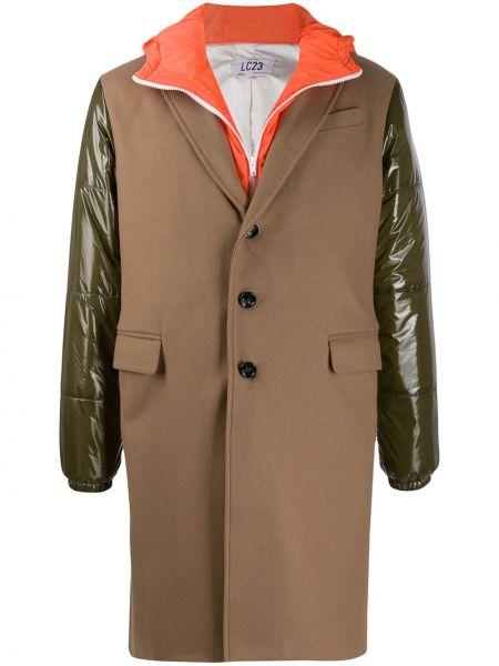 Płaszcz wełniany z kapturem Lc23