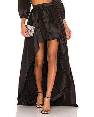 Нейлоновая черная юбка мини на молнии с поясом Likely