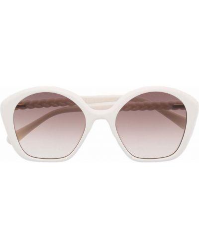 Białe okulary oversize Chloé Kids