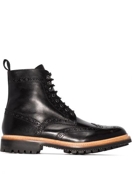 Кожаные ботинки - черные Grenson