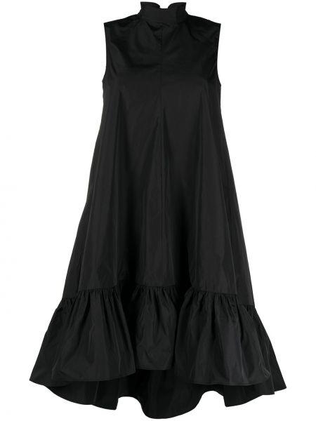 Асимметричное черное платье без рукавов Red Valentino