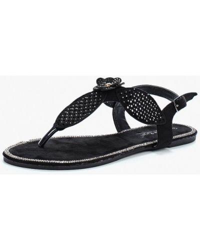 Черные сандалии замшевые Vivian Royal