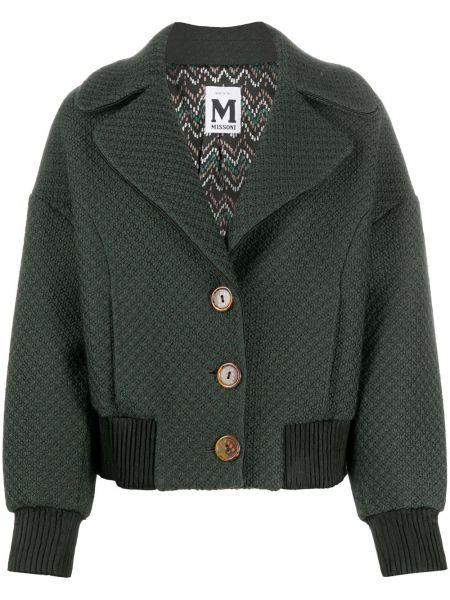 Шерстяная зеленая куртка с поясом Missoni Pre-owned