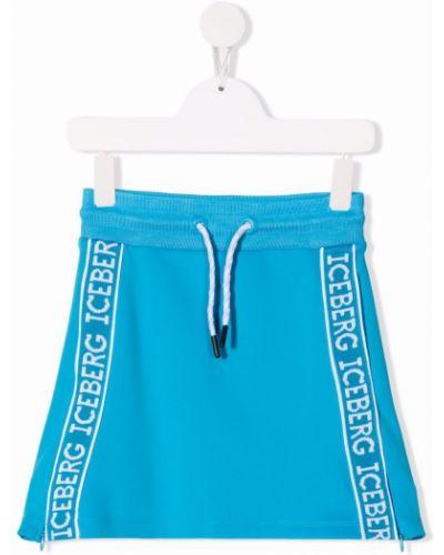 Spódnica z haftem - niebieska Iceberg Kids
