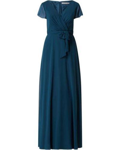 Sukienka wieczorowa z szyfonu turkusowa Christian Berg Cocktail
