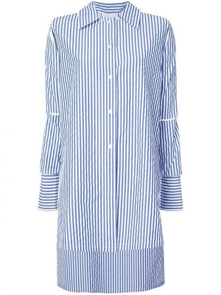 Пуховая рубашка с воротником с манжетами с нашивками Dresshirt