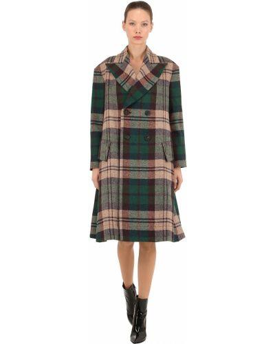 Шерстяное пальто в клетку двубортное Vivienne Westwood