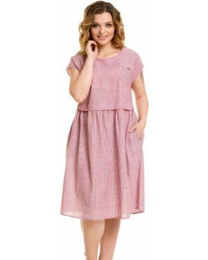 Летнее платье повседневное со складками Novita