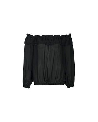 Блузка с открытыми плечами на резинке с рюшами Luisa Spagnoli