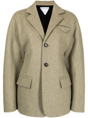 Шерстяной однобортный приталенный пиджак Bottega Veneta