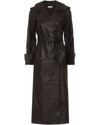 Черное кожаное пальто Co