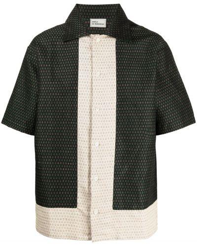 Zielona klasyczna koszula krótki rękaw bawełniana Drole De Monsieur