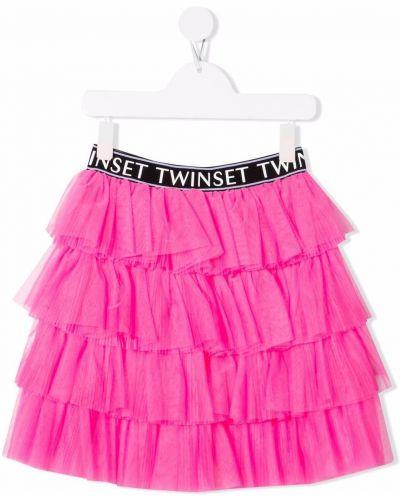 Spódniczka mini tiulowa - biała Twinset Kids