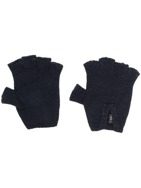 Z kaszmiru niebieskie rękawiczki bez palców Chanel Pre-owned