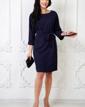 Платье с поясом платье-сарафан синее Taiga