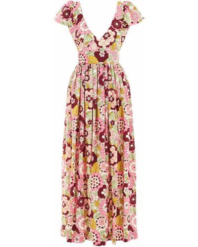 Приталенное розовое платье мини с короткими рукавами из вискозы Dodo Bar Or