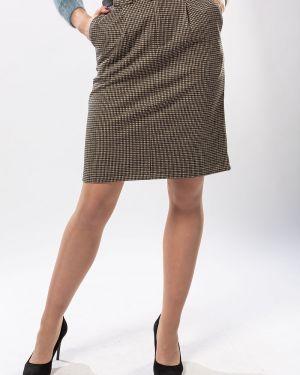 Хлопковая коричневая юбка S&t