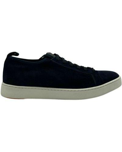 Czarne sneakersy Santoni