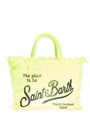 Желтая сумка с принтом Mc2 Saint Barth