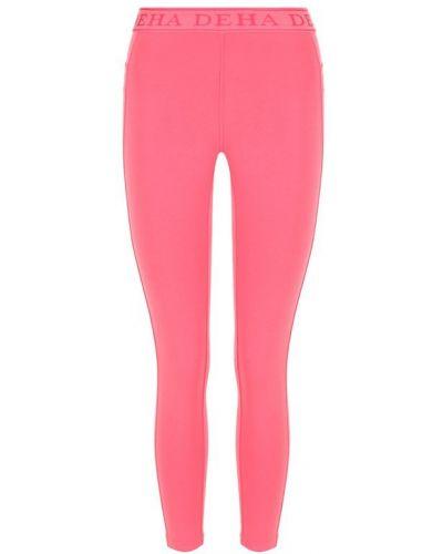 Розовые хлопковые леггинсы спортивные Deha