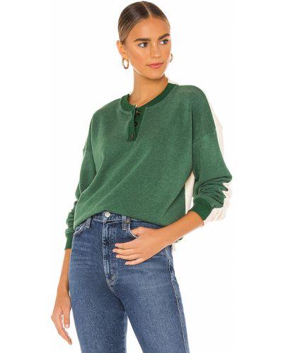 Bawełna codziennie miękki zielony bluza Donni.