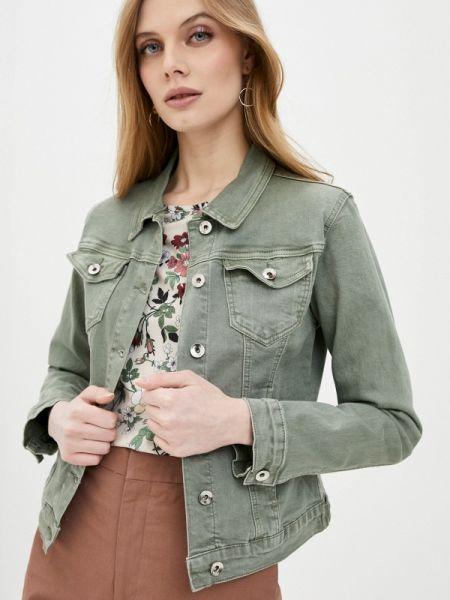 Джинсовая куртка осенняя зеленая Softy