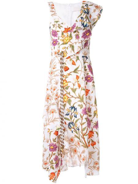 Платье с цветочным принтом с рукавами Peter Pilotto