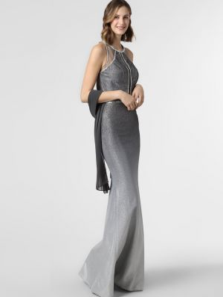 Sukienka wieczorowa, szary Luxuar Fashion