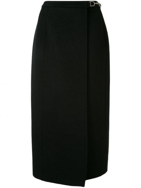 Z kaszmiru czarna spódnica ołówkowa z wysokim stanem Gabriela Hearst