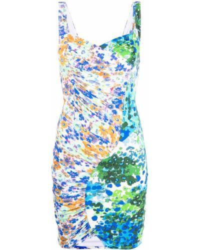 Шелковое платье - синее Stella Mccartney