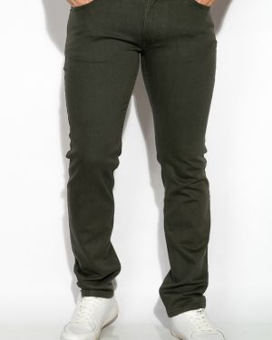 Хлопковые джинсы - зеленые Time Of Style