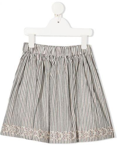 Biała spódnica z haftem Bonpoint