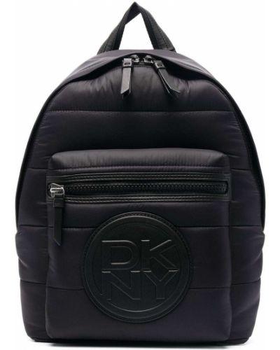 Нейлоновый черный рюкзак на молнии Dkny