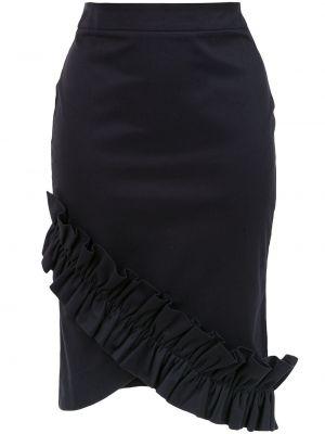 С завышенной талией прямая черная юбка карандаш Isolda