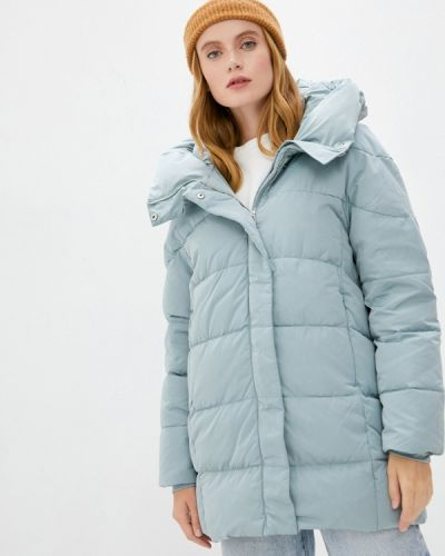Бирюзовая зимняя куртка Mango