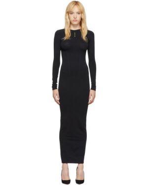 Платье макси вязаное с отложным воротником Unravel