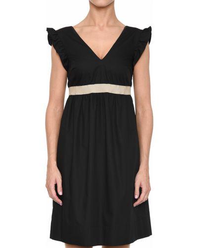 Хлопковое платье - черное Barba Napoli