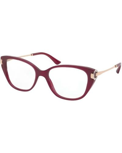 Czerwone okulary Bvlgari