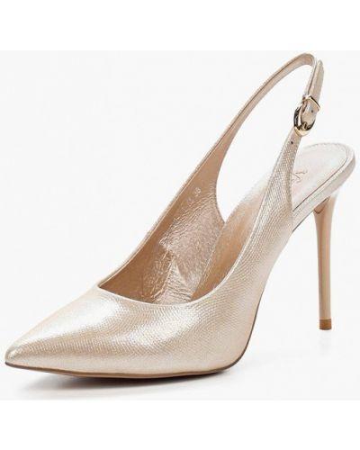 Туфли с открытой пяткой золотого цвета Calipso