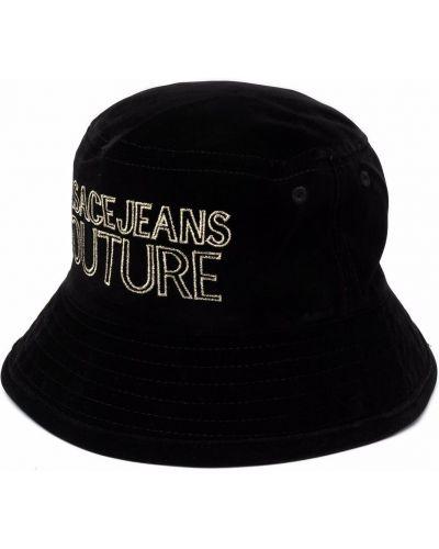 Джинсовая шапка - черная Versace Jeans Couture