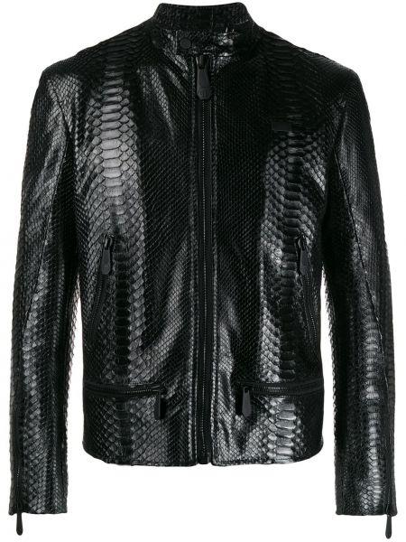 Черная стеганая кожаная куртка Philipp Plein