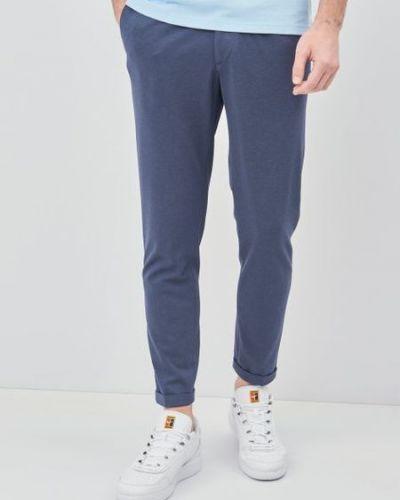 Синие брюки с карманами на пуговицах Zara