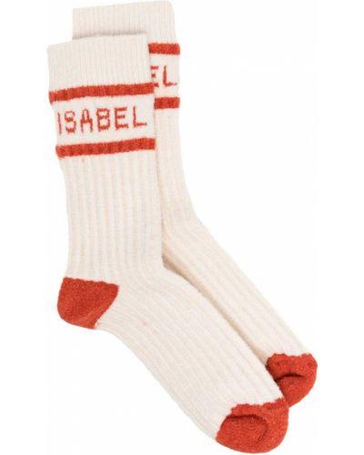 Белые носки эластичные в рубчик Isabel Marant